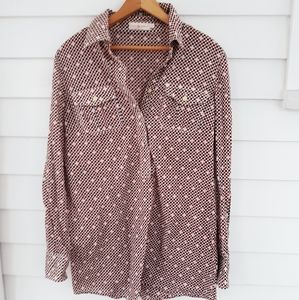 Tory Burch Checkered Blouse / Size 10 /M